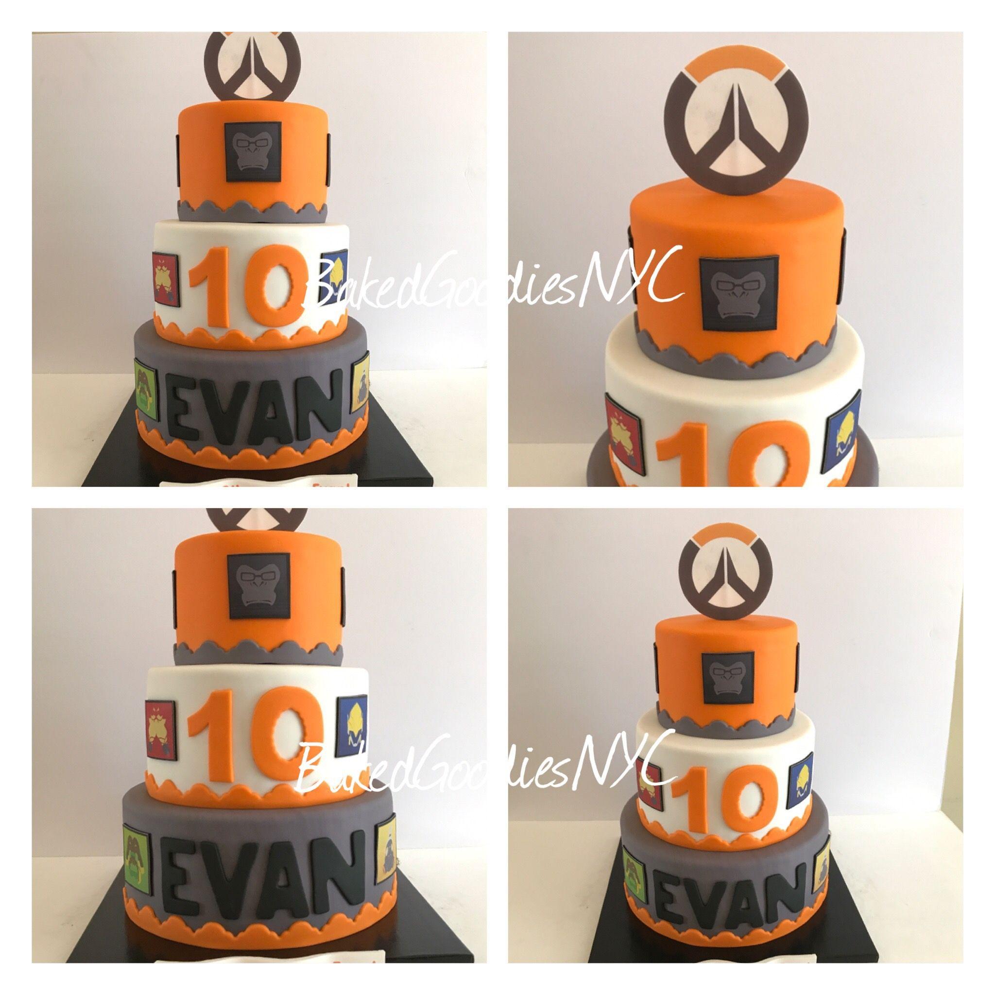 OVERWATCH CAKE | CAKES in 2019 | Overwatch cake, Overwatch birthday ...