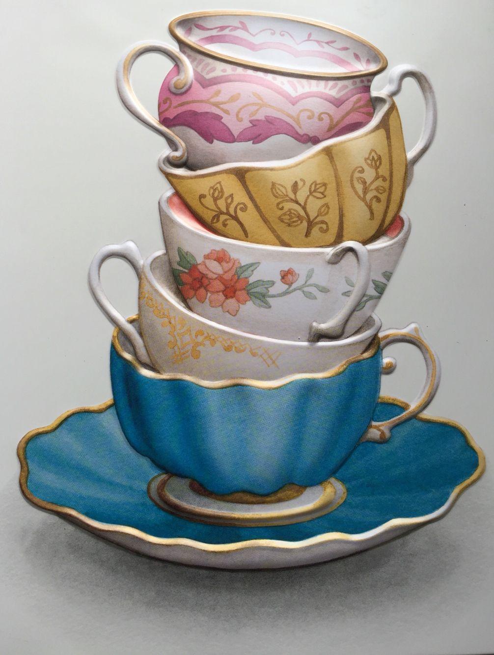 картинки для декупажа чашка с чаем этого