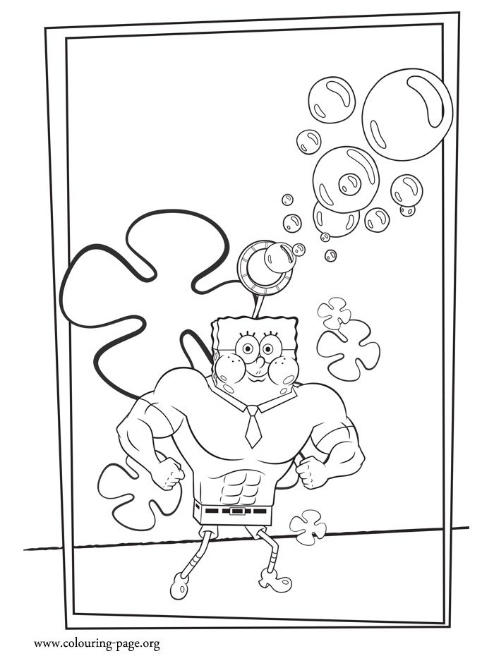 Invincibubble Is A SpongeBob SquarePantss Superhero In The New Movie How About To Print And Color This Free Coloring Sheet