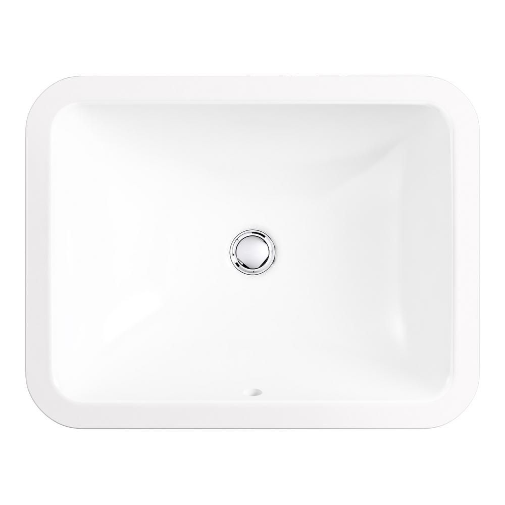 Kohler Caxton Rectangle Undermount Bathroom Sink In White K 20000
