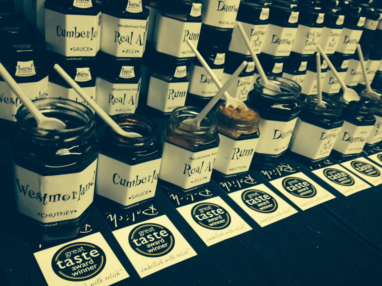 A selection of our best sellers at the Damson Day in Lyth Valley. #Damson #Relish
