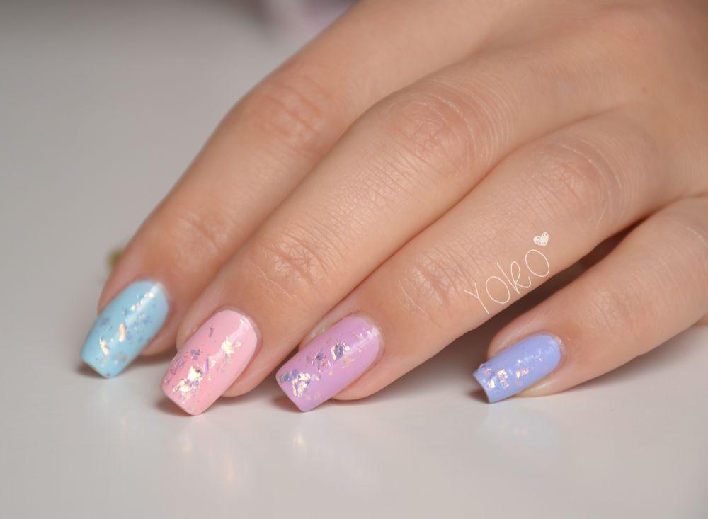Nails Art Bleu Pastel