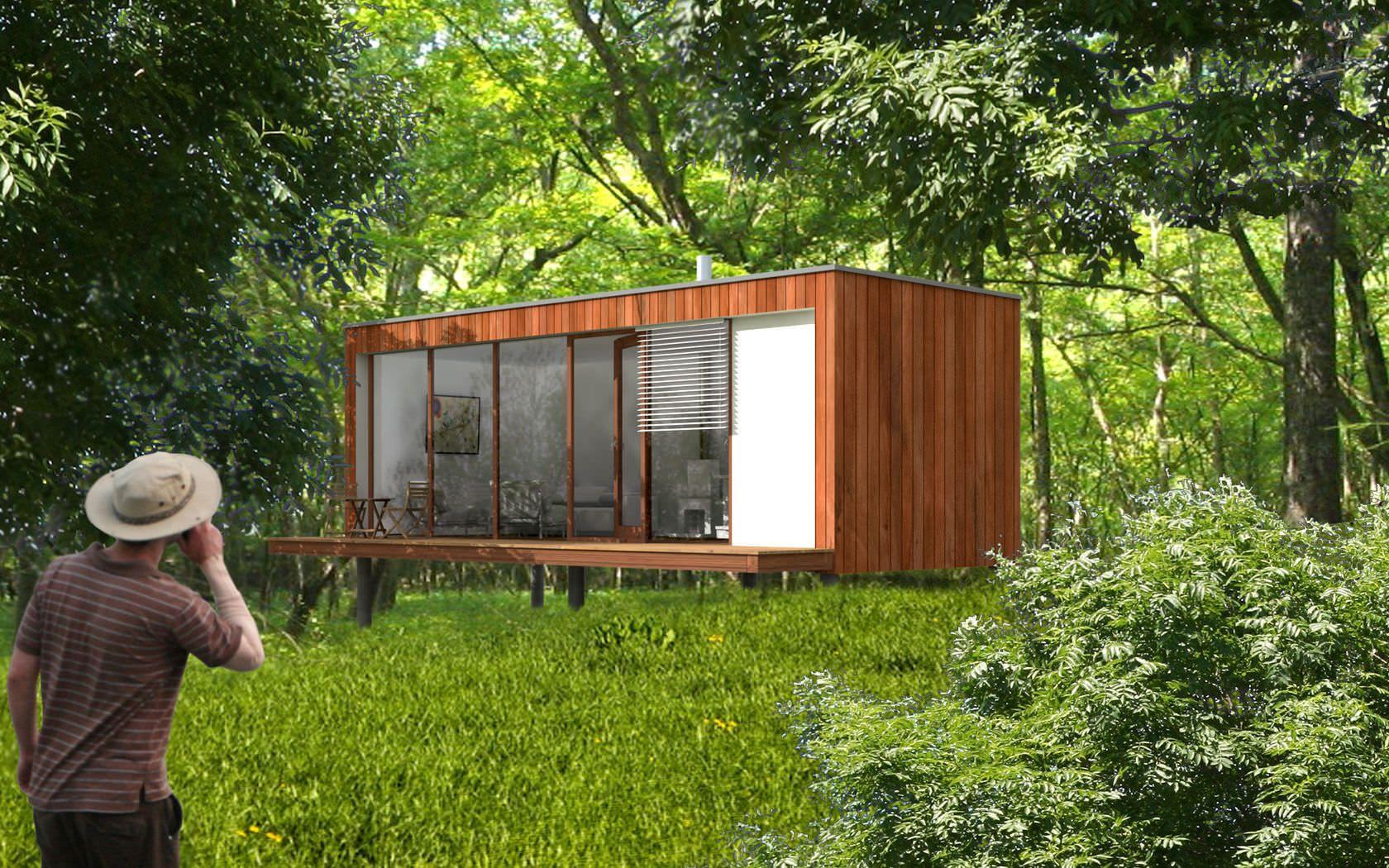 Micro maison pr fabriqu e modulaire contemporaine cologique ek 009 ekokoncept wooden for Maison modulaire contemporaine