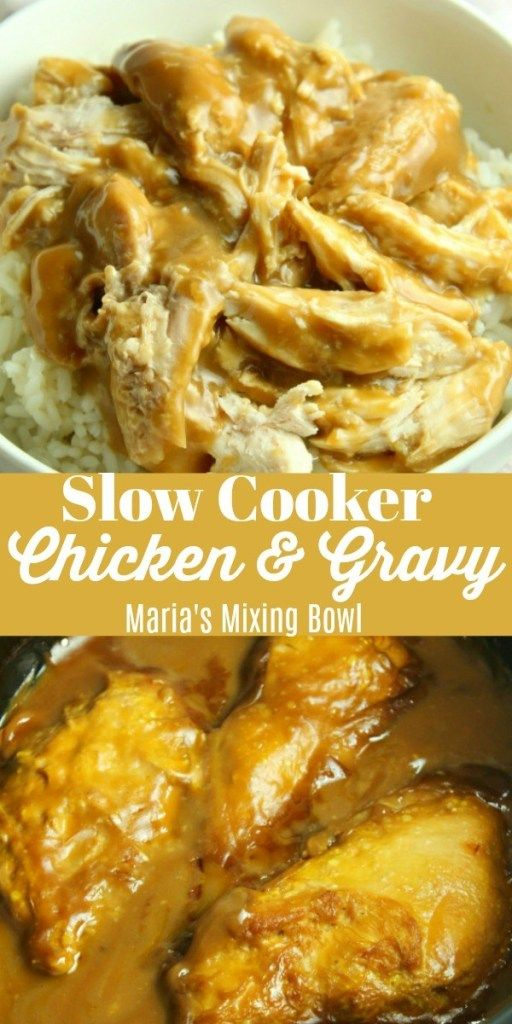 Slow Cooker Chicken and Gravy is what comfort food is all about in our house and it is totally ahhh-mazing! Easy and delicious always wins in our home. #slowcookerchicken