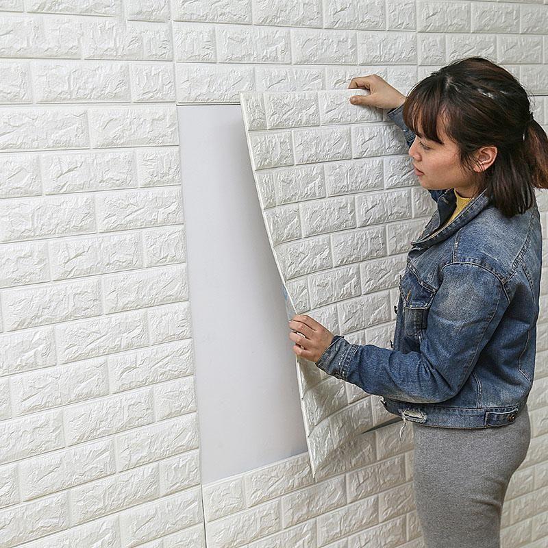 Faux 3d Brick Wallpaper Adhesive Tiles Brick Room Wallpaper Walls Decor Living Wall Decor