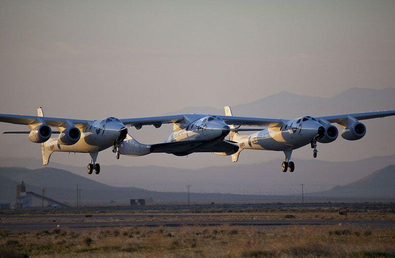 Virgin Galactic / Scaled Composites. Burt Rutan design aircraft.