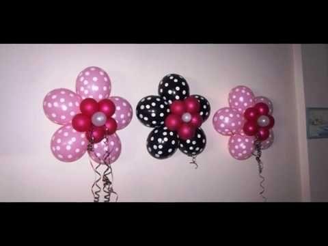 Como Hacer Una Flor Con Globos Paso A Paso Flowers Balloons Flores - Como-hacer-flores-de-globos
