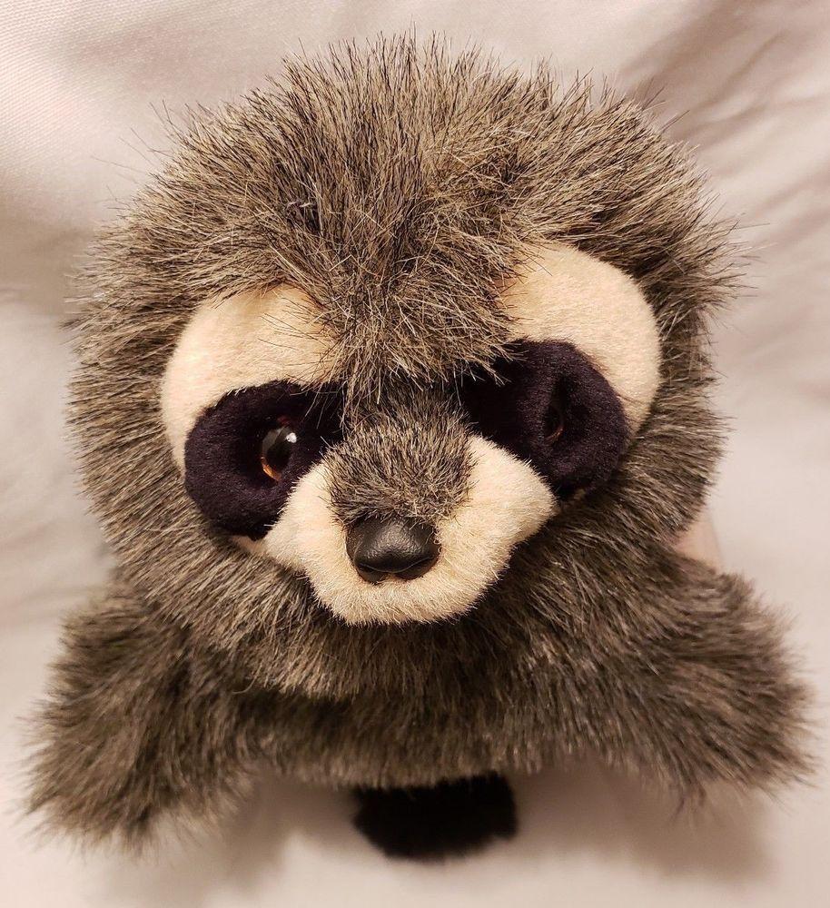 Folkmanis Baby Raccoon Puppet Role Play Plush Stuffed Animal Soft