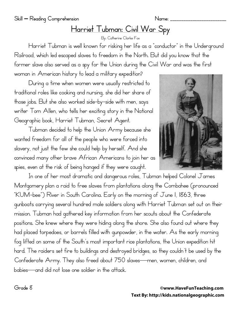 Harriet Tubman Civil War Spy With Images Reading