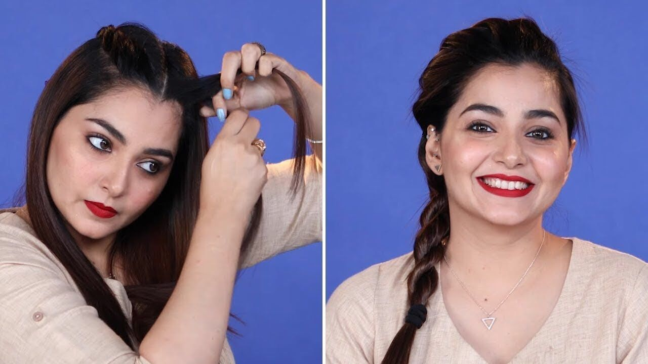 5 Minutes Diy Hairstyle For Office In Hindi Everyday Simple Hairstyle Office Hairstyles Easy Hairstyles Easy And Beautiful Hairstyles