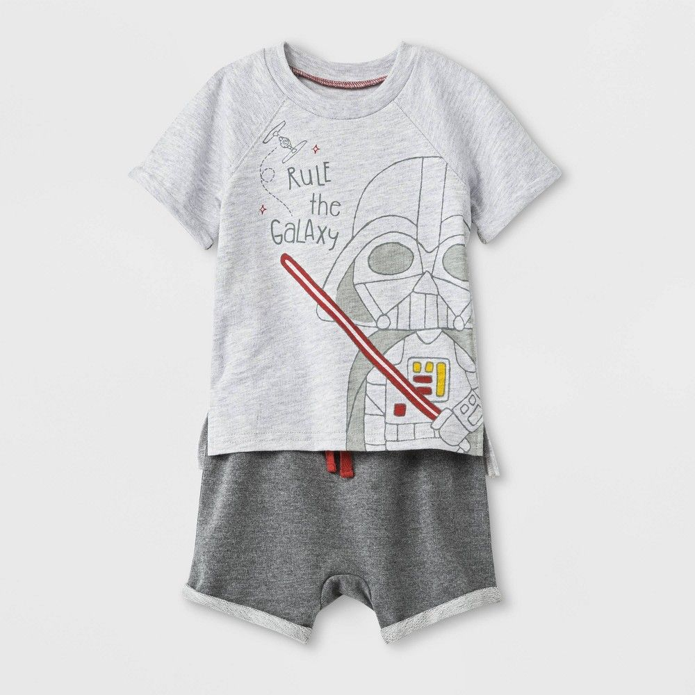Disney Star Wars Toddler Darth Vader T-Shirt and Shorts Set