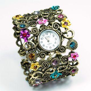 Bracelete Vintage com Relógio — Carro de Bolso
