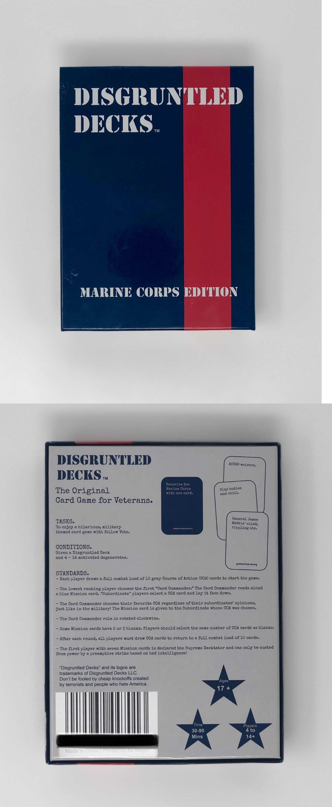 Other CCG Items 2535: Disgruntled Decks - Military Party Card Game For  Veterans - Usmc Marine Corps -> BUY IT NOW ONLY: $24.99 on #eBay #other  #items ...