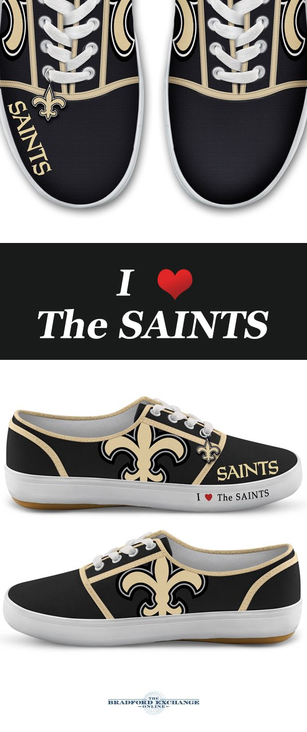 I Love The Saints Womens Shoes Logo Color And Team Logo