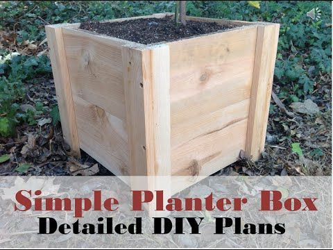 How To Build This Super Easy Planter Box Diy Cedar Planter Box Tutorial Diy Cedar Planter Box Easy Planter Box Planter Boxes
