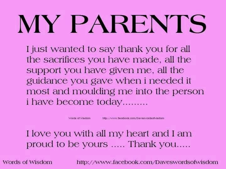 To My Parents Mom And Dad Quotes Love My Parents Quotes Good Parenting Quotes
