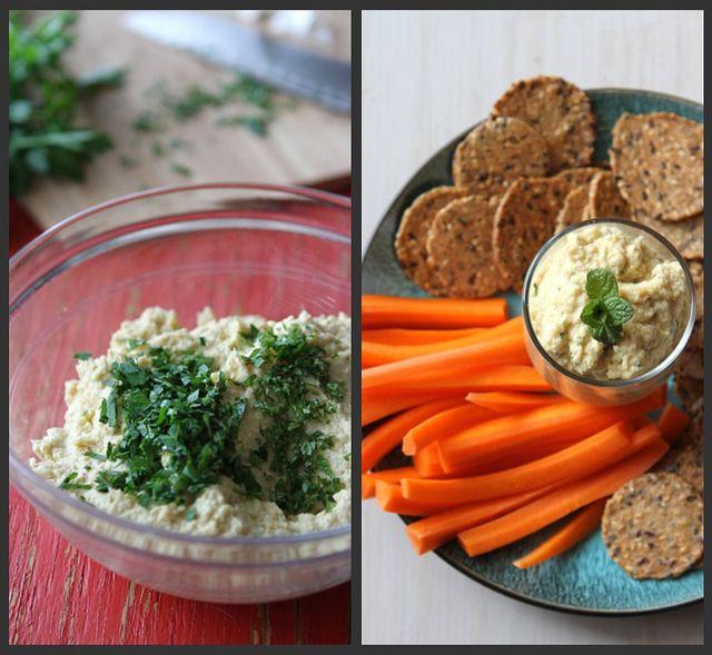 Artichoke Hummus Recipe with Hazelnuts & Fresh Mint from @Mrs.Miller' Canuck Dara Michalski
