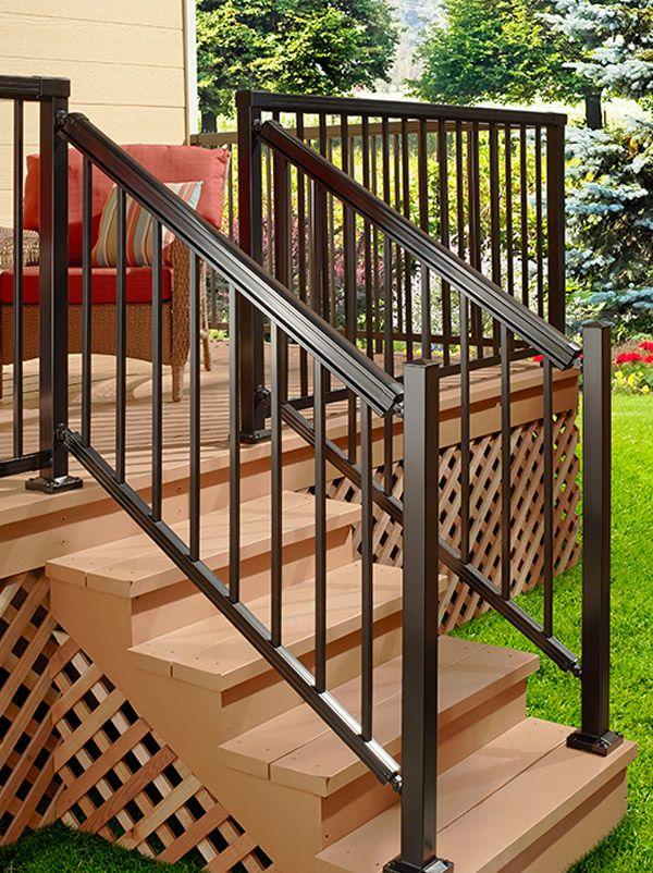 DIY Aluminum Railing System Stair Railing Black with