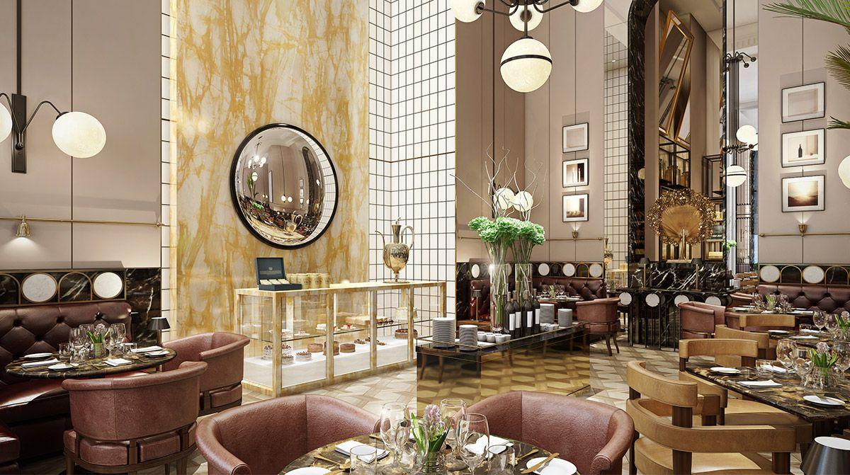 The Langham Jakarta Interior Design Luxury Restaurant Design