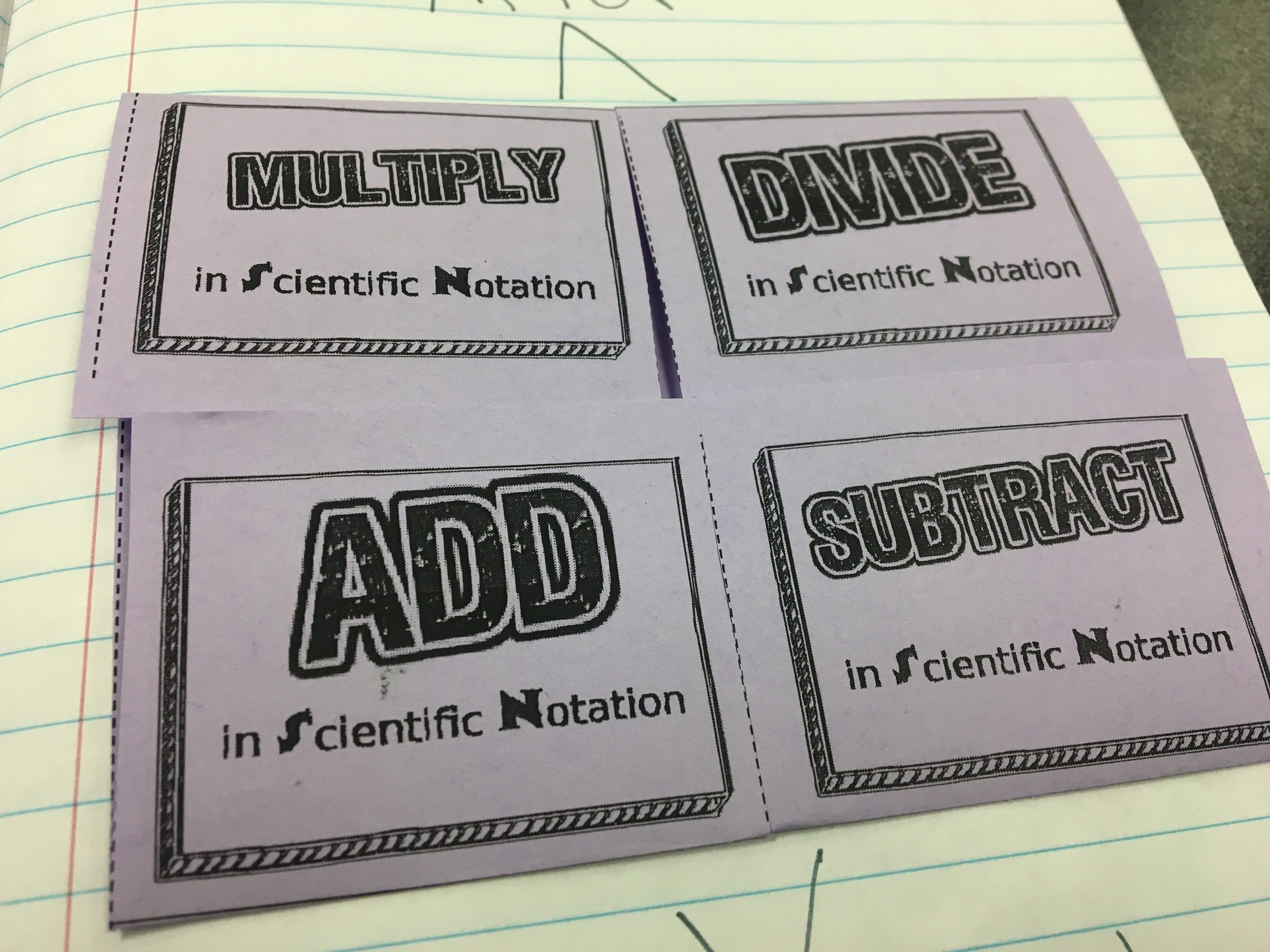 Teaching Operations With Scientific Notation With