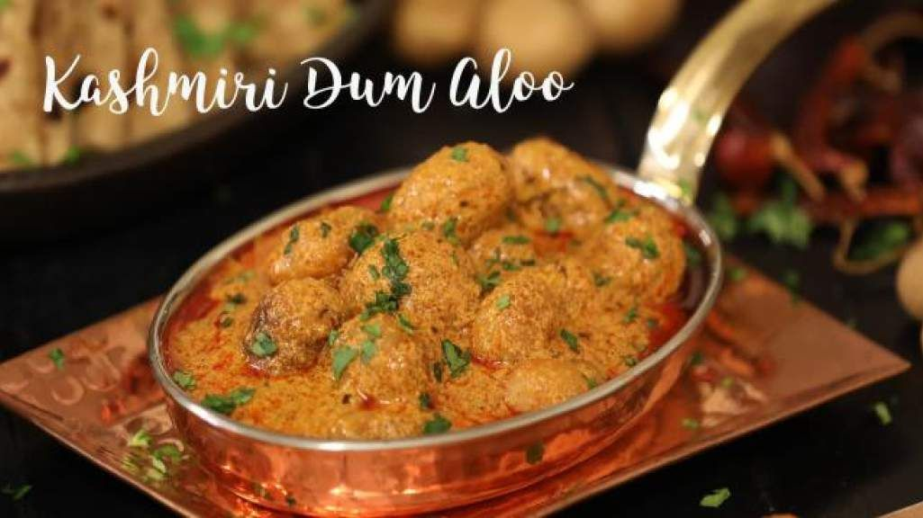 dum aloo kashmiri dum aloo is a mildly spiced whole baby potatoes curry cooked in a healthy and on hebbar s kitchen recipes dum aloo id=34322