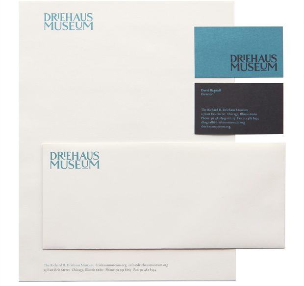 The Richard H Driehaus Museum stationery system letterhead - mailing label designs