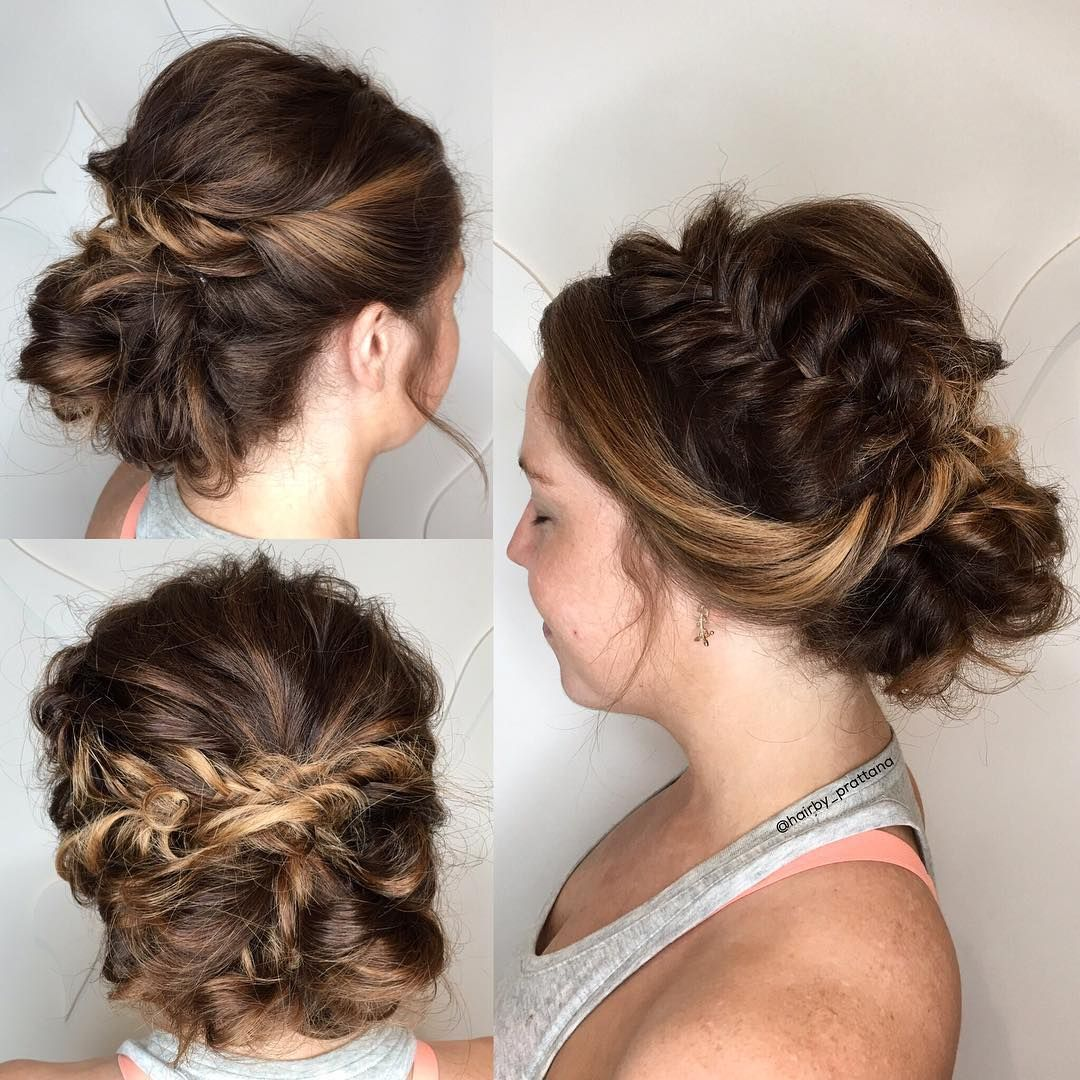 french braid updo with side twists | wedding updos | pinterest