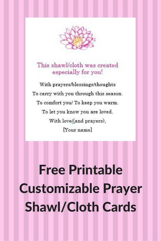 Prayer Shawl Cards: Free, Printable & Customizable