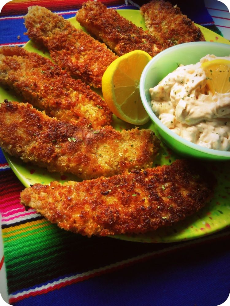 Panko Crusted Fish With Chipotle Kissed Tartar Sauce