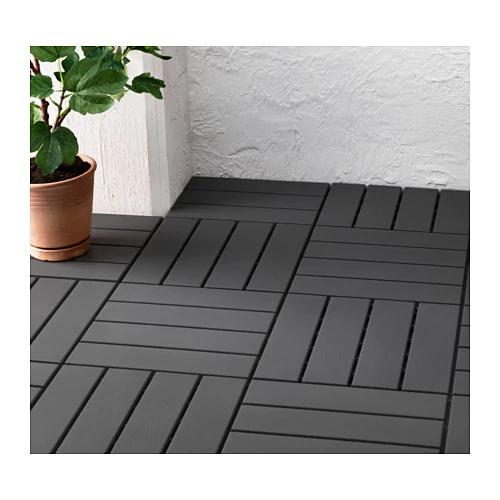 RUNNEN Decking, outdoor dark gray 9 sq feet Diy deck
