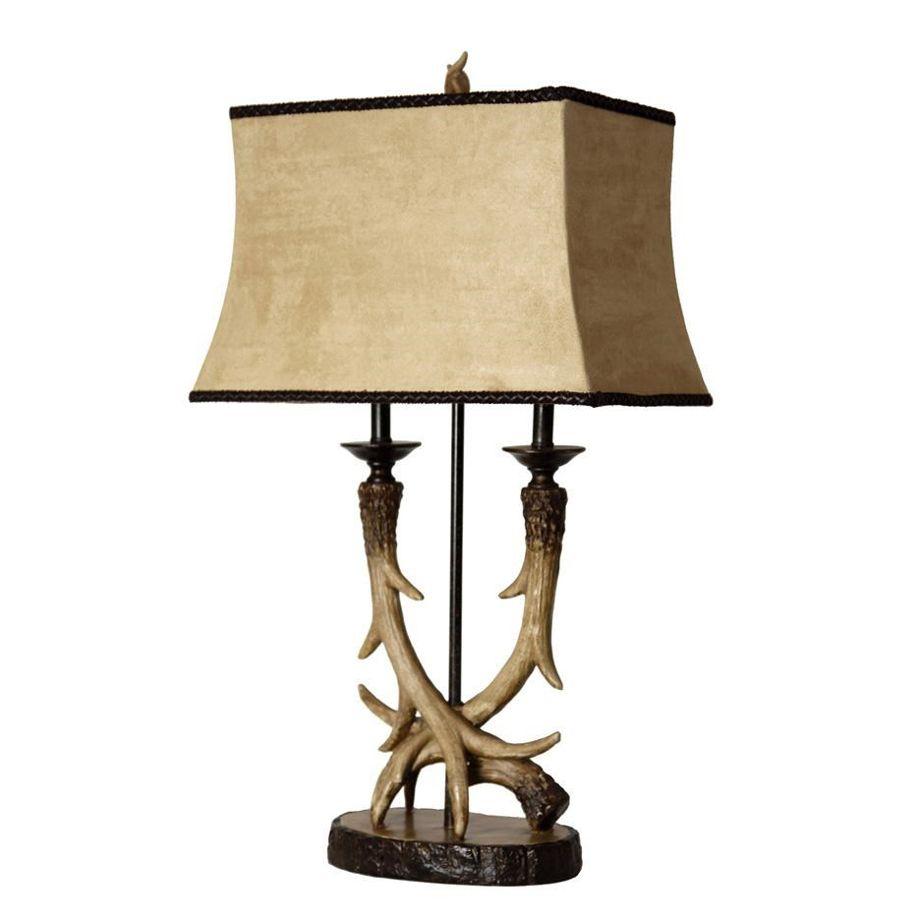 Deer Valley Antler Twin Lamp Table Lamp Antler Lamp Decor