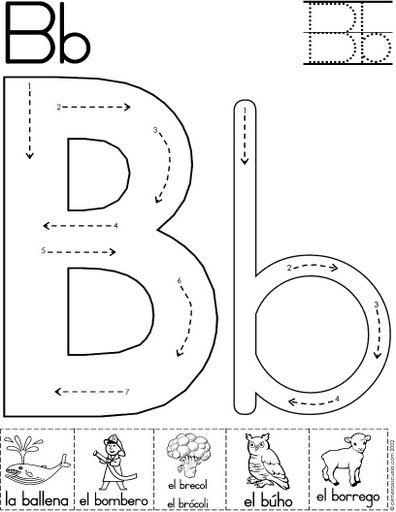 lera b fichas del abecedario y el alfabeto para descargar gratis ...