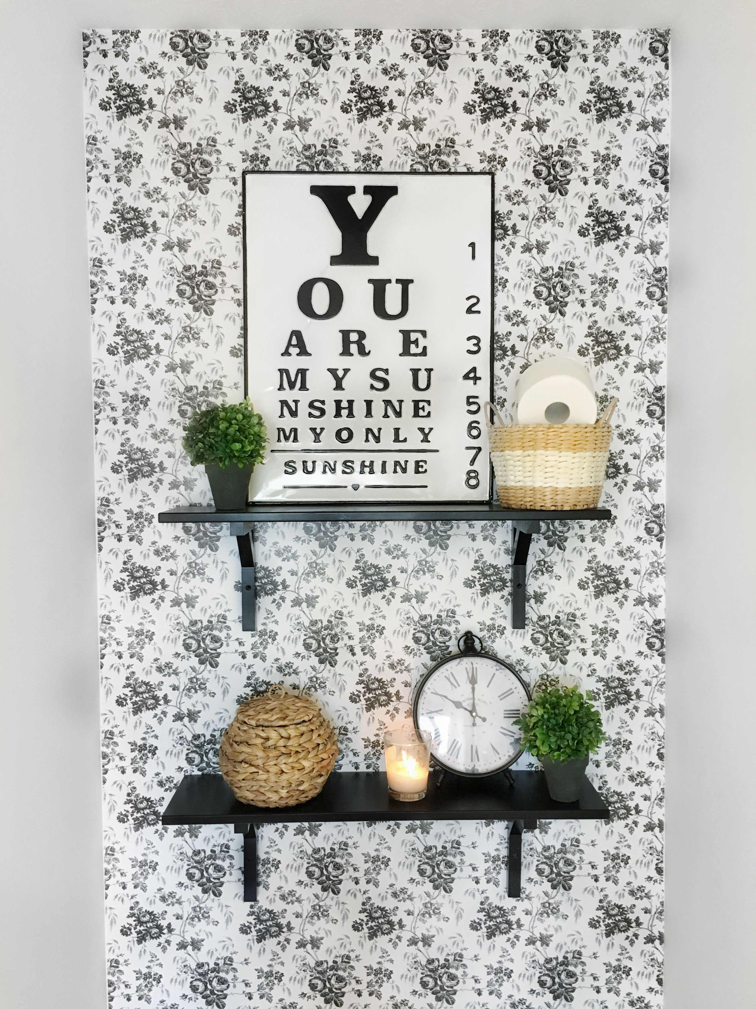 Tree Design Wallpaper Living Room: $6 Wallpaper Wall With Dollar Tree Contact Paper