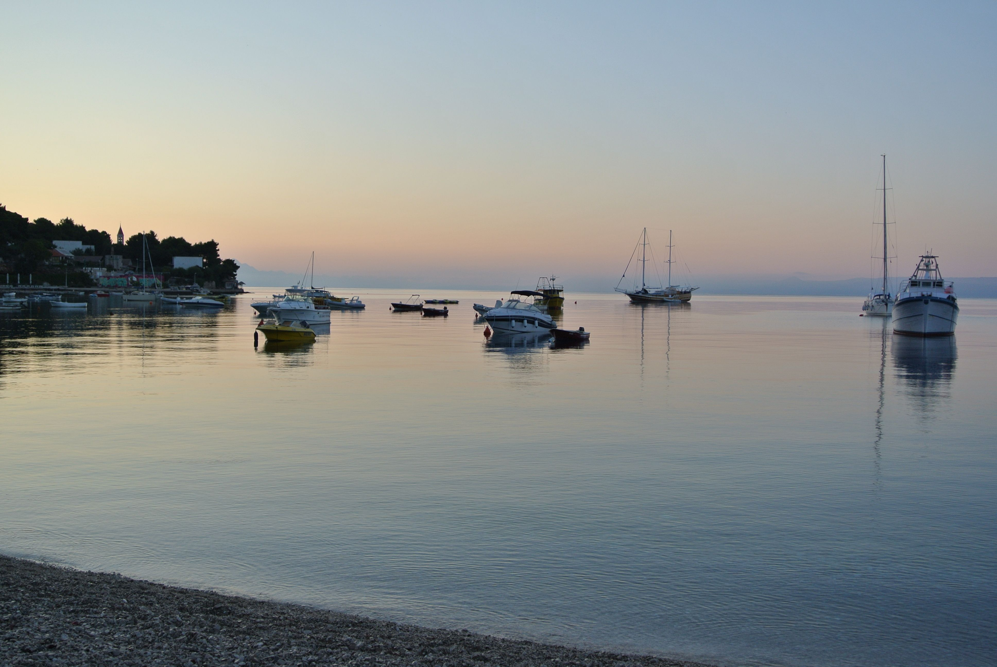 Sunrise, Brac Island, Croatia