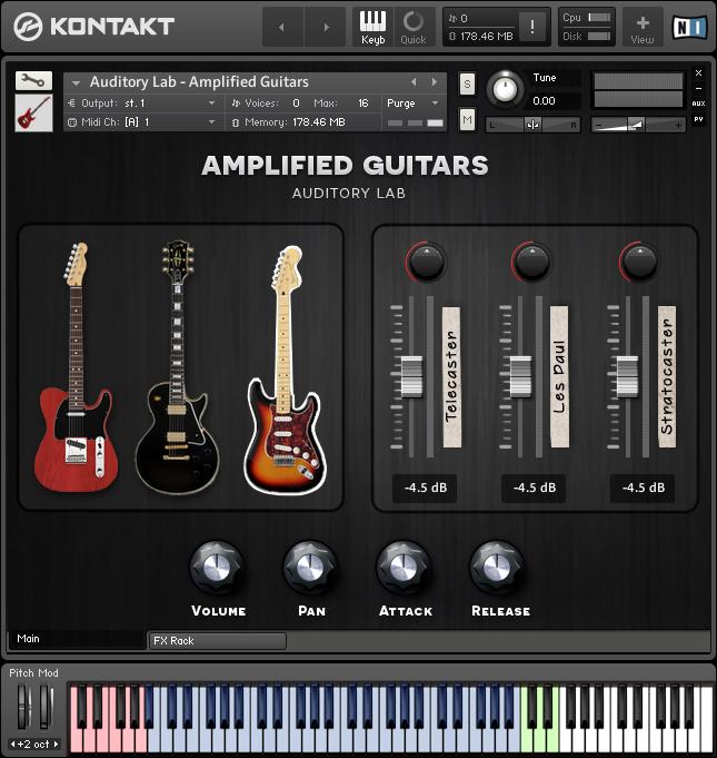 Electric Guitars Virtual Instrument Plugin Kontakt Library Mac Pc Vst Au Aax Guitar Instruments Cubase
