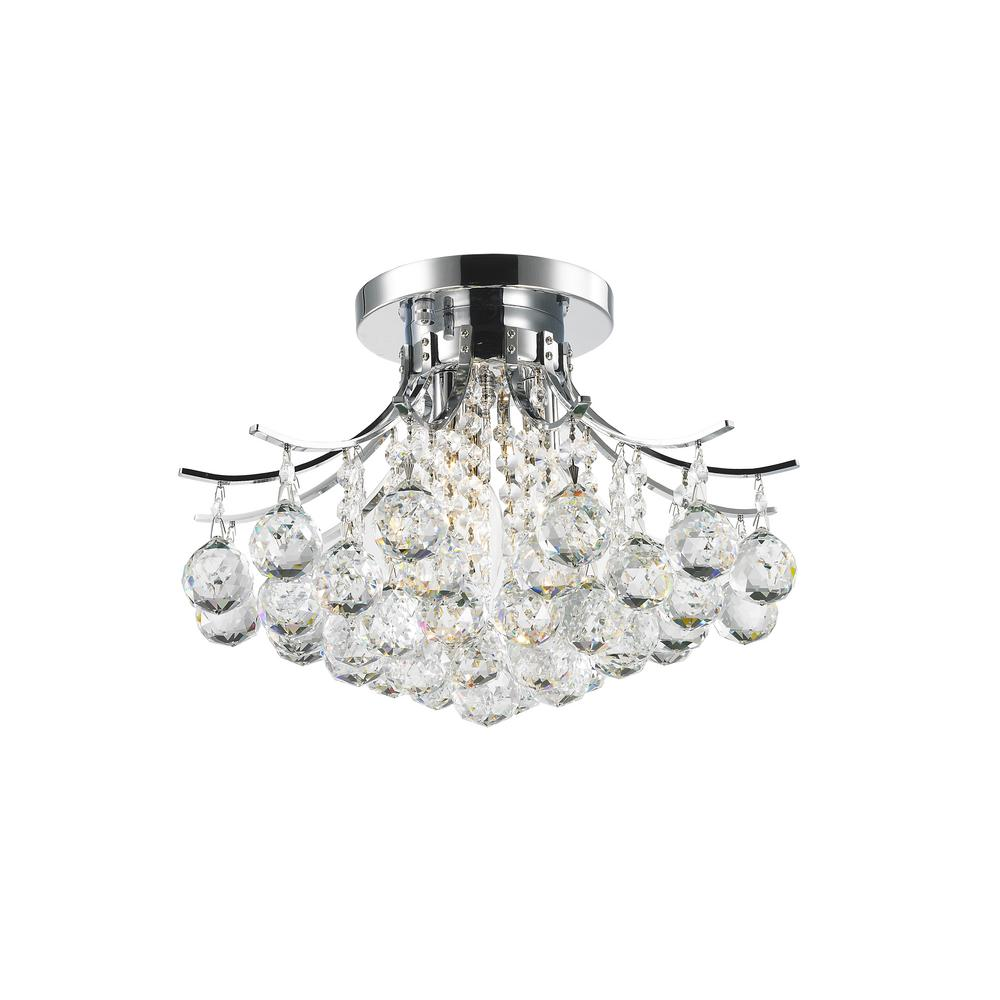 Worldwide Lighting Empire Collection 3 Light Chrome And Crystal Flush Mount W33015c16 Crystal Ceiling Light Semi Flush Ceiling Lights Lighting