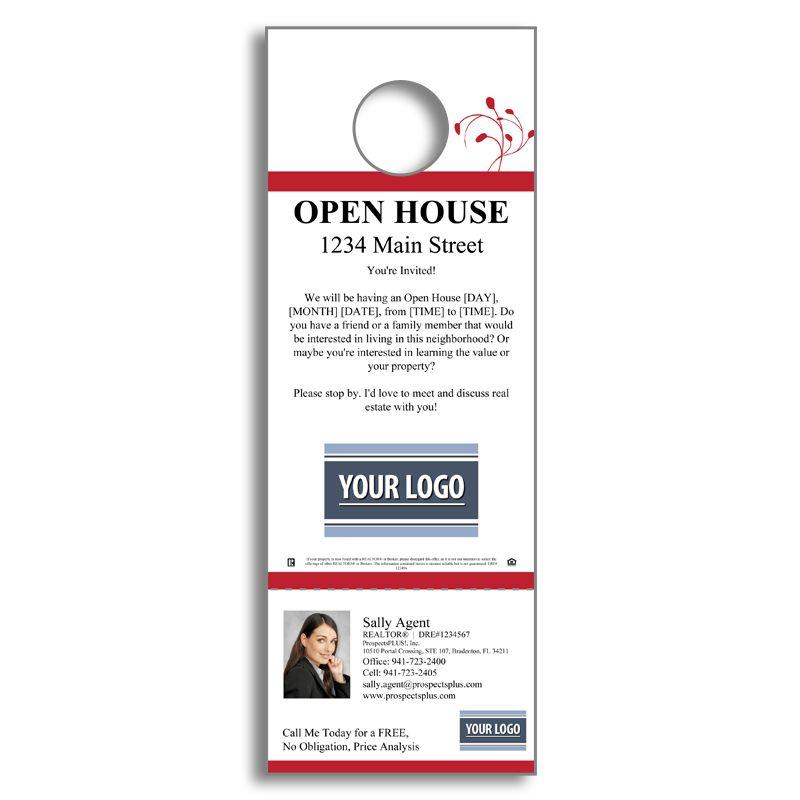 Real Estate Open House - Door Hanger   Agent Marketing Products ...