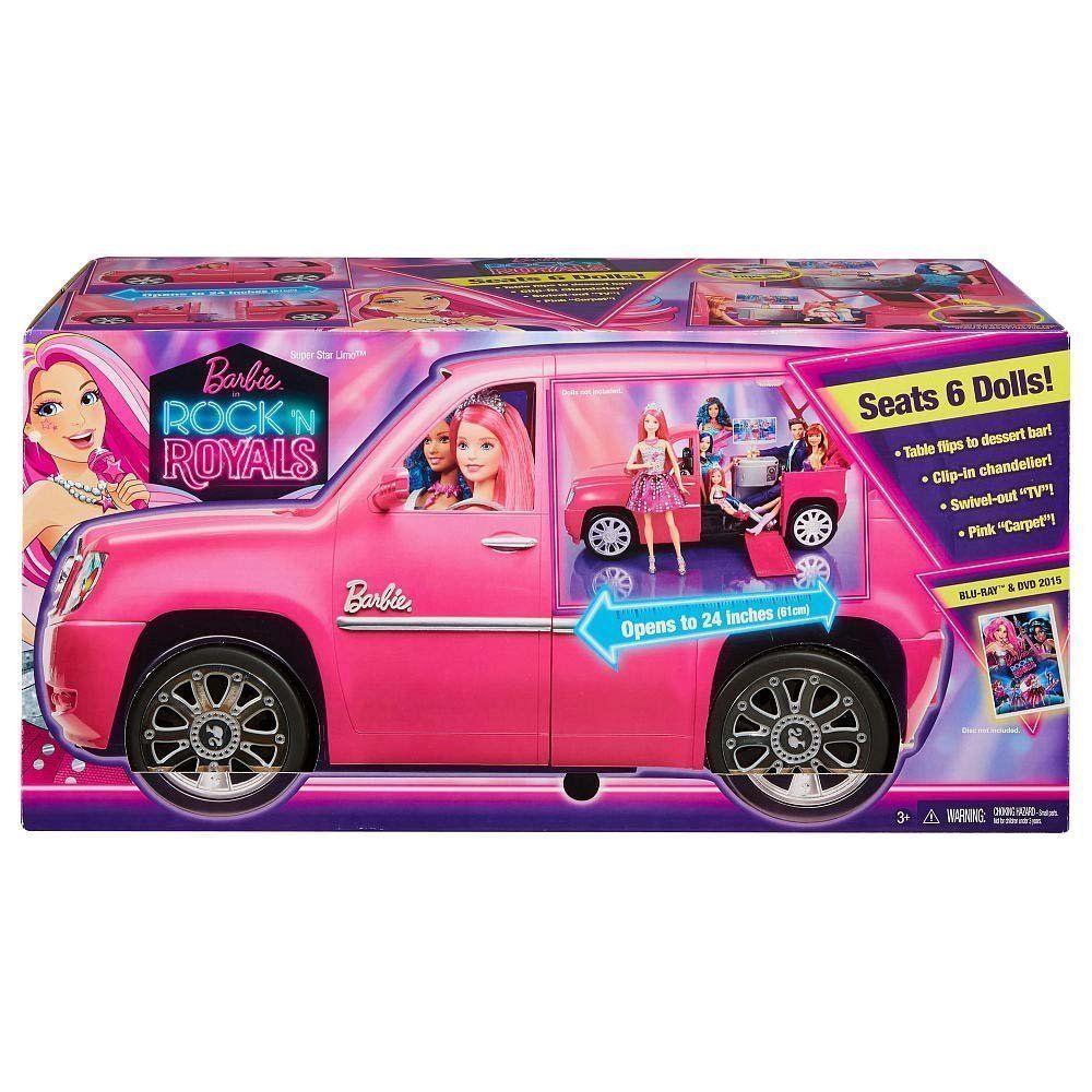New Barbie Rock N Royals Superstar Glam Limo Expandable Playset Car Barbie Barbie Car Barbie Toys