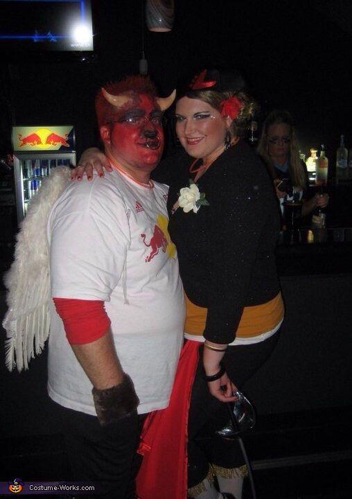 Bull Fighter vs Red Bull - Halloween Costume Contest at Costume
