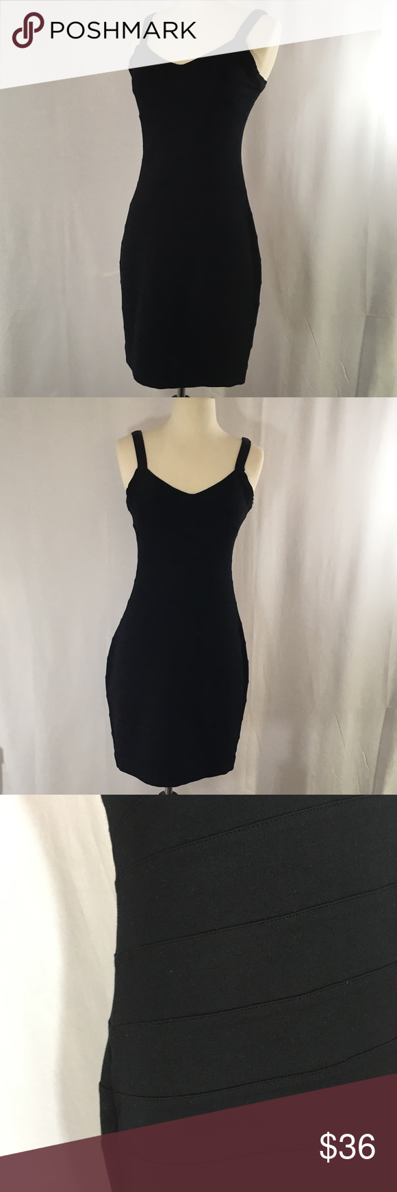 Express xs black dress bandage style of fabric