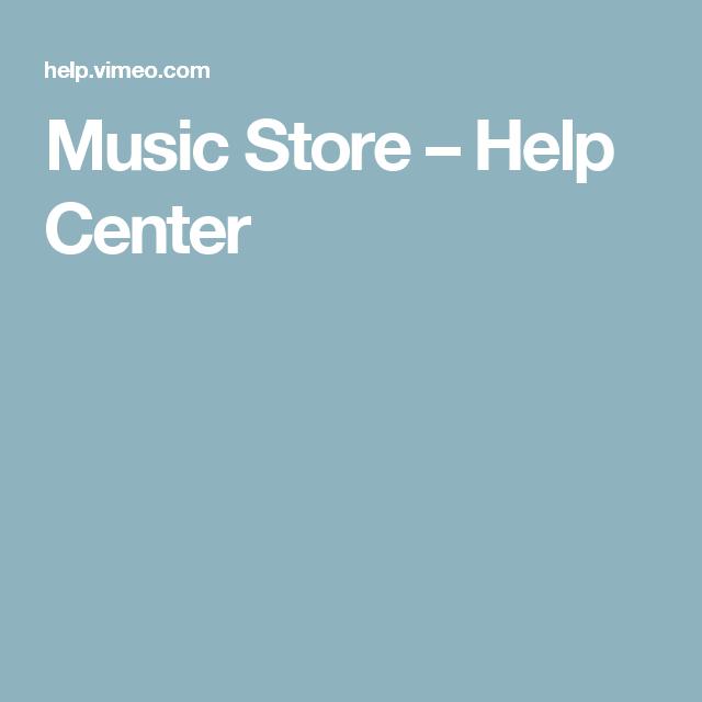 Music Store – Help Center