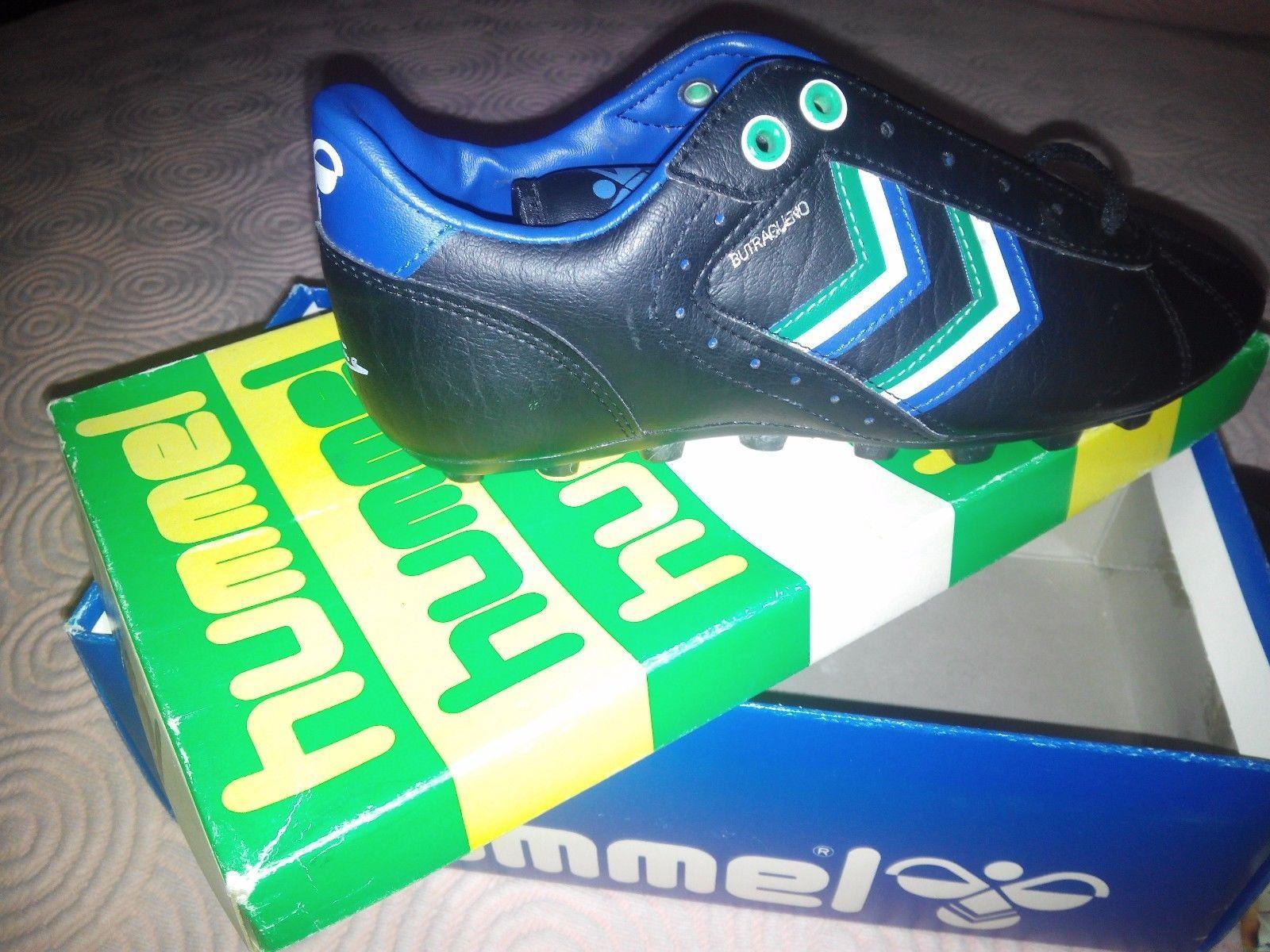 new concept 096ef e47cb Botas fútbol Butragueño Hummel Real Madrid nuevas boots football retro 80 s    eBay