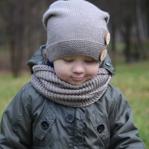Hand Knitted Scarf For Toddler Boys Kids Cowl Children S