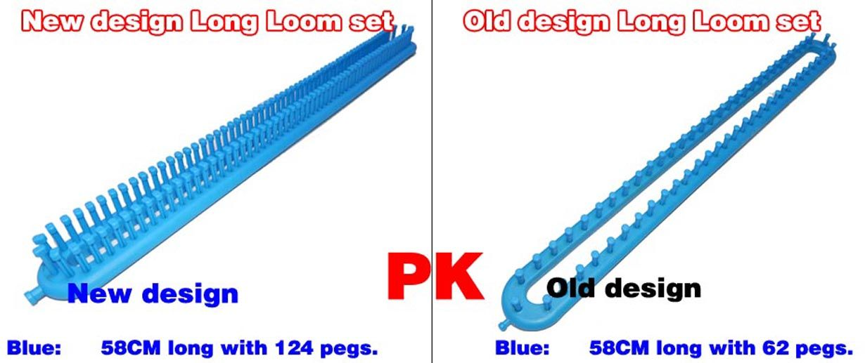 New Design Long Loom Set Compare With Knifty Knitter Knitting