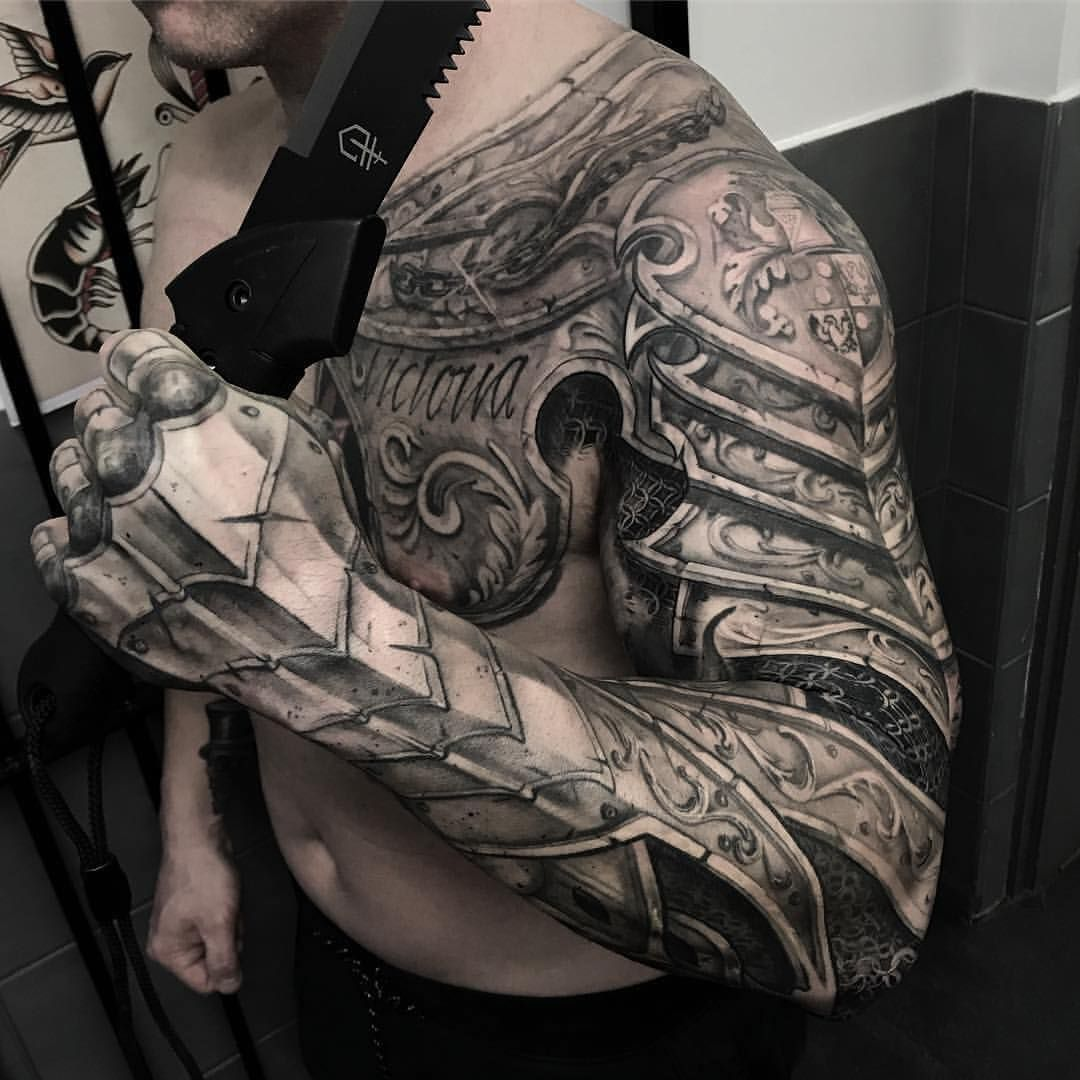 sleeve tattoo themes for men Photo by (the.inked.society
