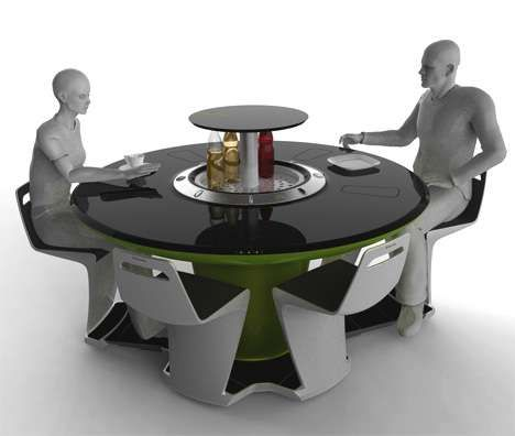Petr Kubik S Electrolux Futuristic Dining Table Concept Is A