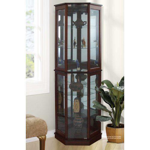 Biali Lighted Corner Curio Cabinet Curio Cabinets Pinterest