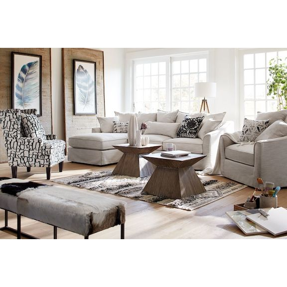 Tremendous Brooke Ivory 2 Piece Sectional With Chaise Value City Camellatalisay Diy Chair Ideas Camellatalisaycom
