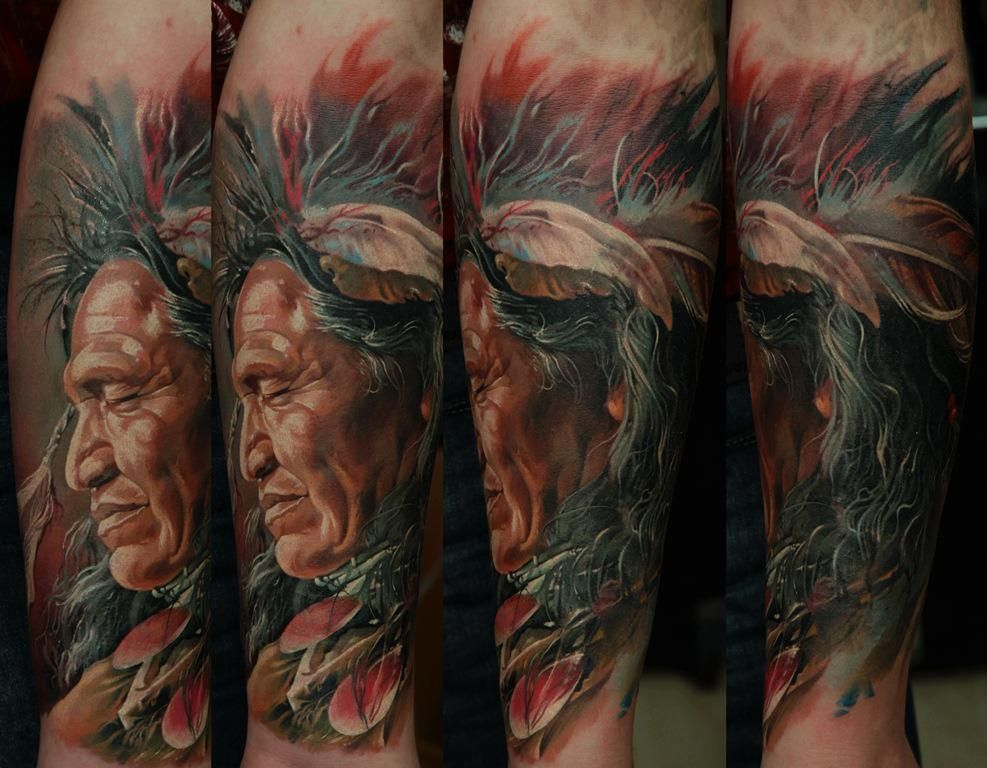 simply magnificent work by Dmitriy Samohin Indian tattoo
