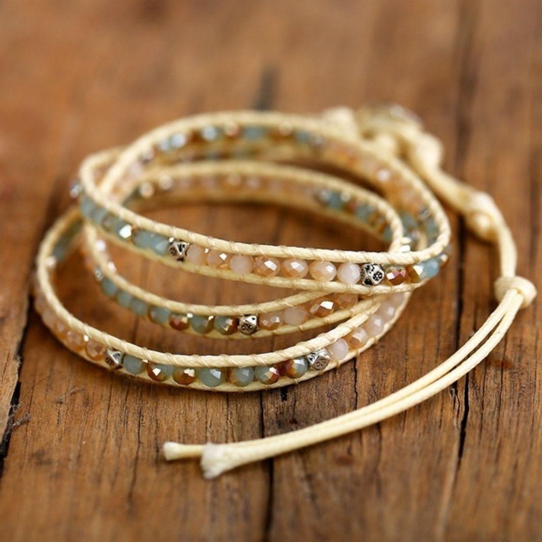 Bohemian Wrap Bracelet Crystals   Mercari